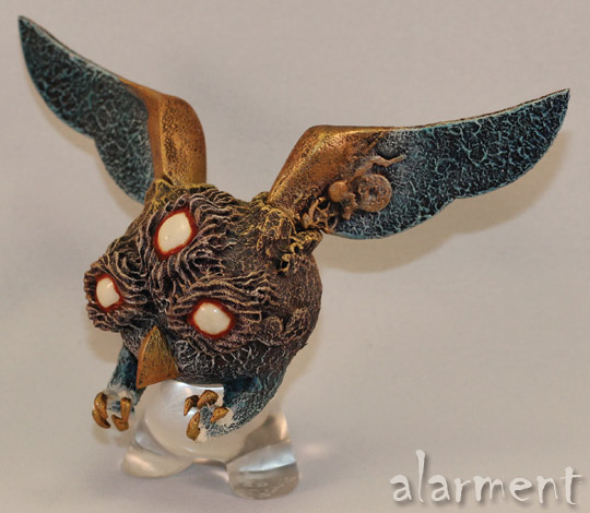 Night Terror Owl alarment custom dunny