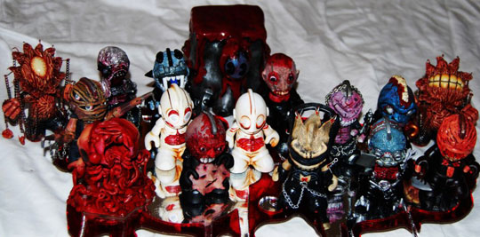 Cenobot custom Kidrobot mascot series group photo alarment