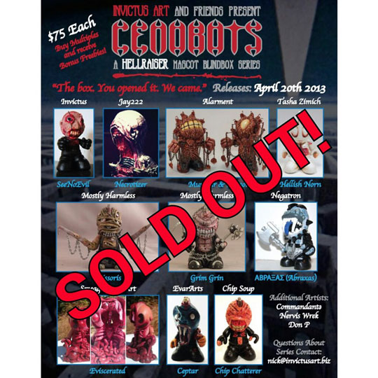 Cenobot custom Kidrobot mascot series poster alarment