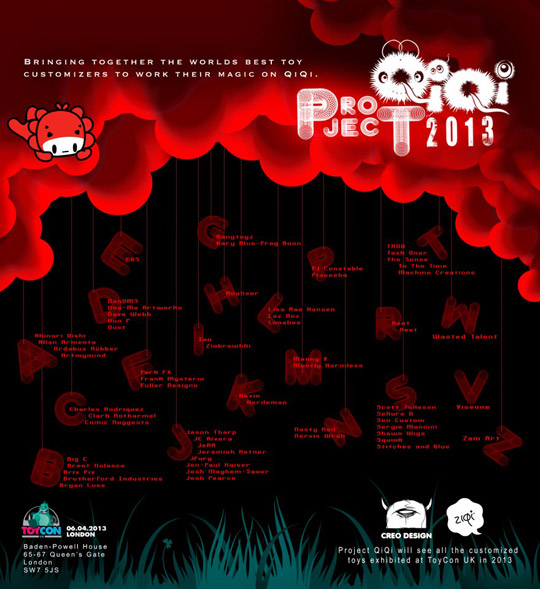 Project QiQi ToyCon 2013 poster2 alarment