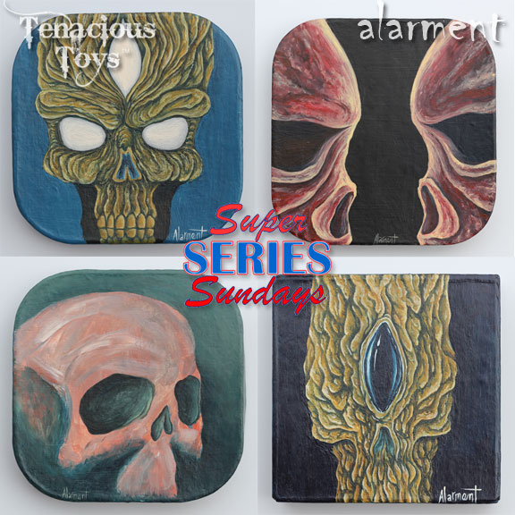 alarment Creatures and Companions Dunny series paintings