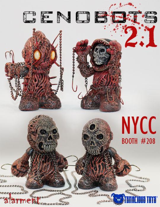alarment cenobots V2.1 kidrobot mascot NYCC