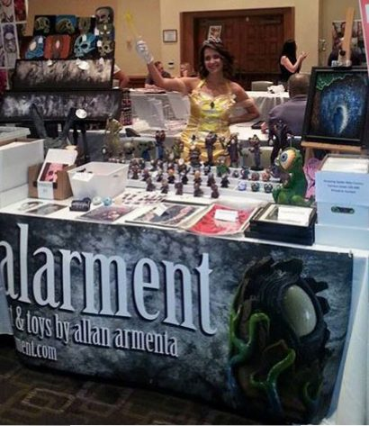 alarment BMG Fan Fest booth