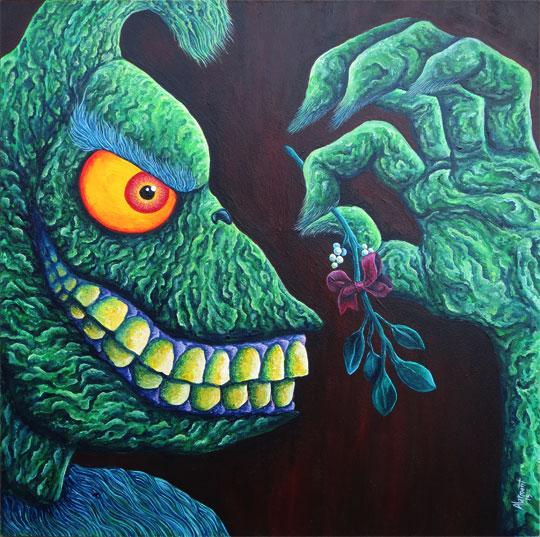 A Wonderful Awful Idea Grinch Painting alarment