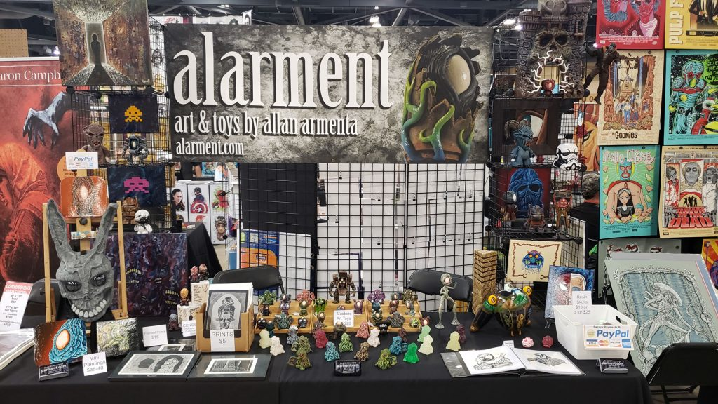 New Mexico Comic Expo 2019 alarment booth cthulhu